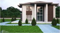 modern villa 3d max