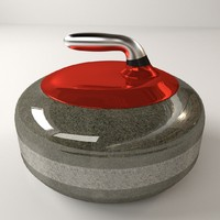 3d curling stone