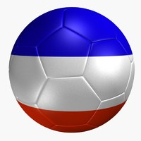 3d model soccer ball france flag