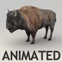 bison walk biped 3d 3ds