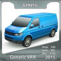 generic van 3d 3ds