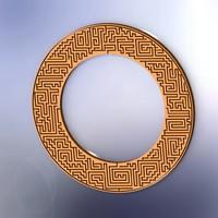 3d model torus labyrinth