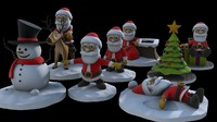 3ds max cartoon christmas printing