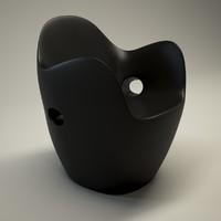 3d model moroso stool interior