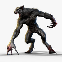 werewolf rigged 3d model