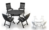 plastic garden furniture obj