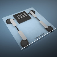 3d model bathroom scale