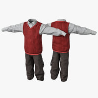 3d boy clothes 2 model