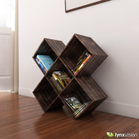 Dark Wood CD-DVD Rack