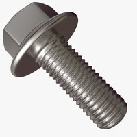 3d hex bolt flange model