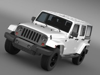 3d jeep wrangler freedom edition model