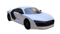 generic sport gt car 3d model