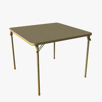 folding card table 3d obj