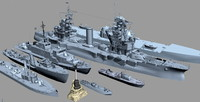 3d model ships black sea fleet