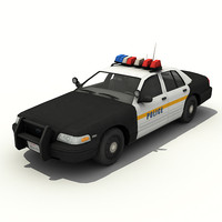 crown victoria police car 3d model