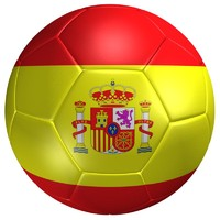 3ds max soccer ball spain flag