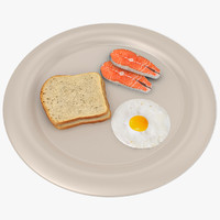 3d bread salmon egg
