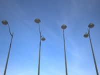 lampadaire street light 3d model