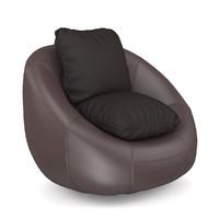 fbx brown leather swivel