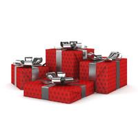 3d present christmas model