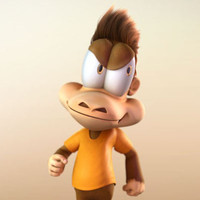 monkey cartoon character 3d model
