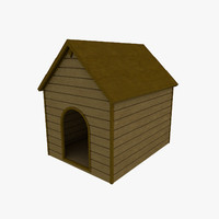 3d basic dog kennel