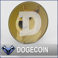 3d doge coin model