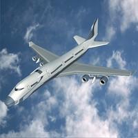 3ds aircraft concept futuristic