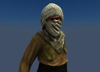 3d terrorist rigged