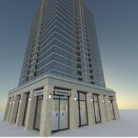 3d model condo skyscraper