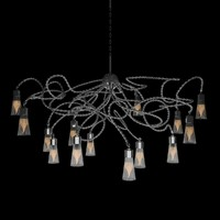 3d model of chandelier oval