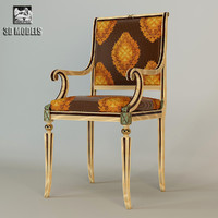 3d model of francesco molon armchair