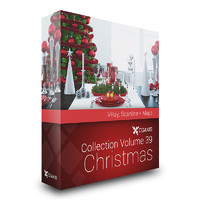 CGAxis Models Volume 39 Christmas VRay