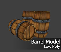 fbx low-poly barrel