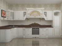 3d model classical kitchen elizabeth