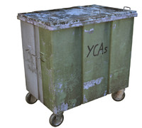 3d model trash bin container