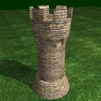archer towers 3d model