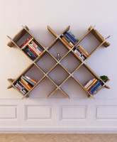 3d model bookcase 13 books