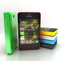 3d model nokia asha 501 colours