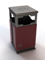 trash recycling bin 3d max