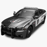 dodge charger pursuit 3d obj