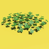 3d clovers modelled grass model