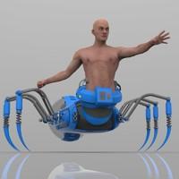 3d spider human