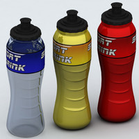 sport water bottle polys 3d model