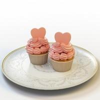 3d cupcake 032 model