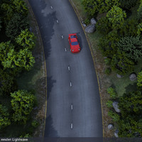 forest road scene 3d lwo