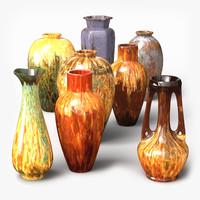 3d glazed vases
