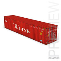 40ft shipping container k 3d c4d