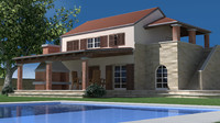 cinema4d mediterranean house