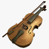 violin normal 3d obj